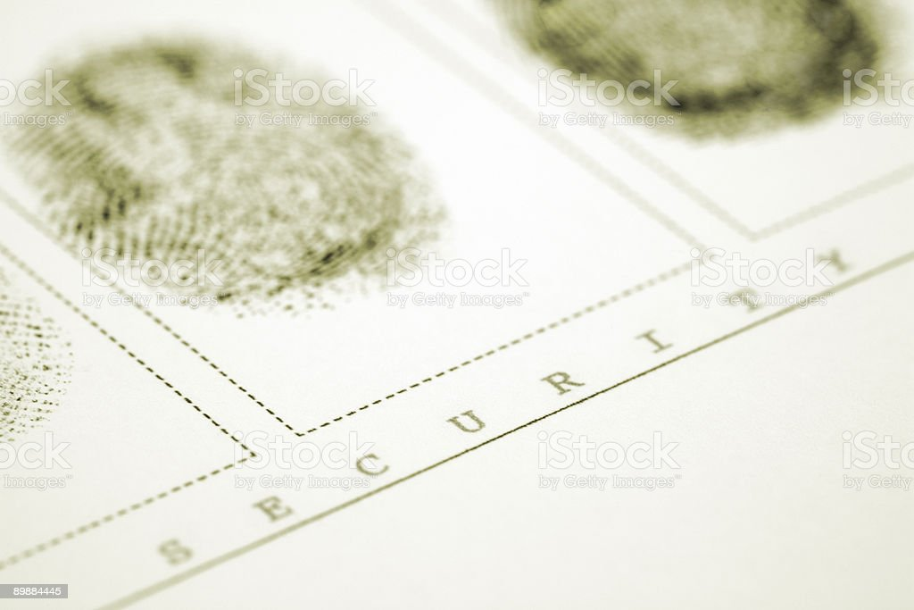Fingerabdruck royalty-free stock photo