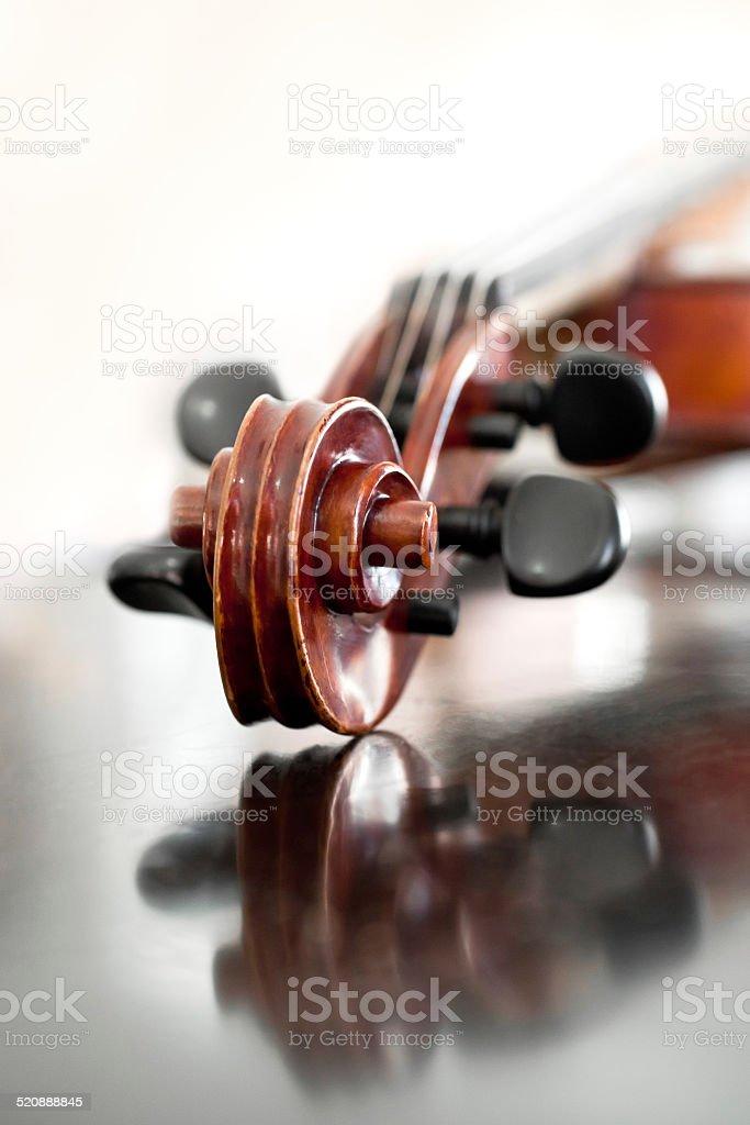 Fingerboard violin stock photo