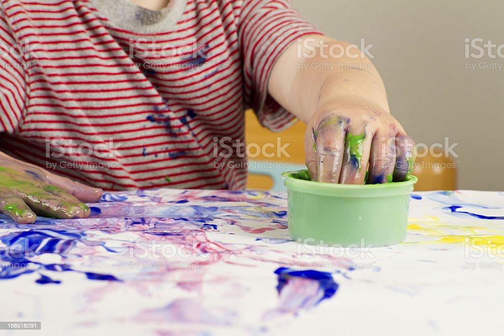 Fingerpainting stock photo