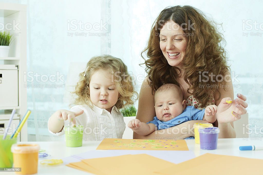 Finger-painting royalty-free stock photo