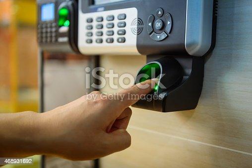 istock Fingerprint Access Control System 468931692