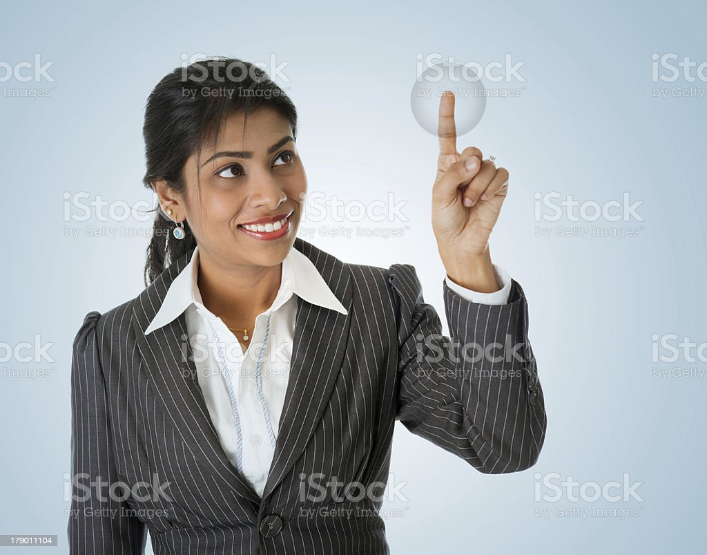 Fingerprint access royalty-free stock photo