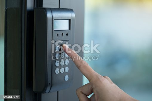 896596886 istock photo fingerprint and access control in a office building 639302772
