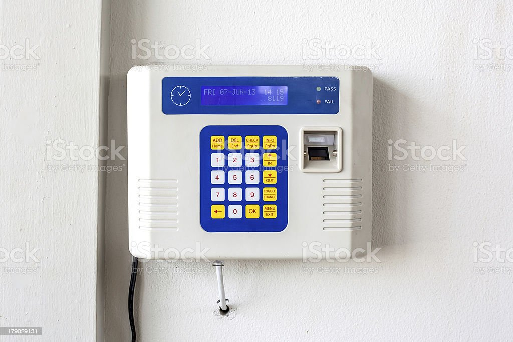 fingerprint and password royalty-free stock photo