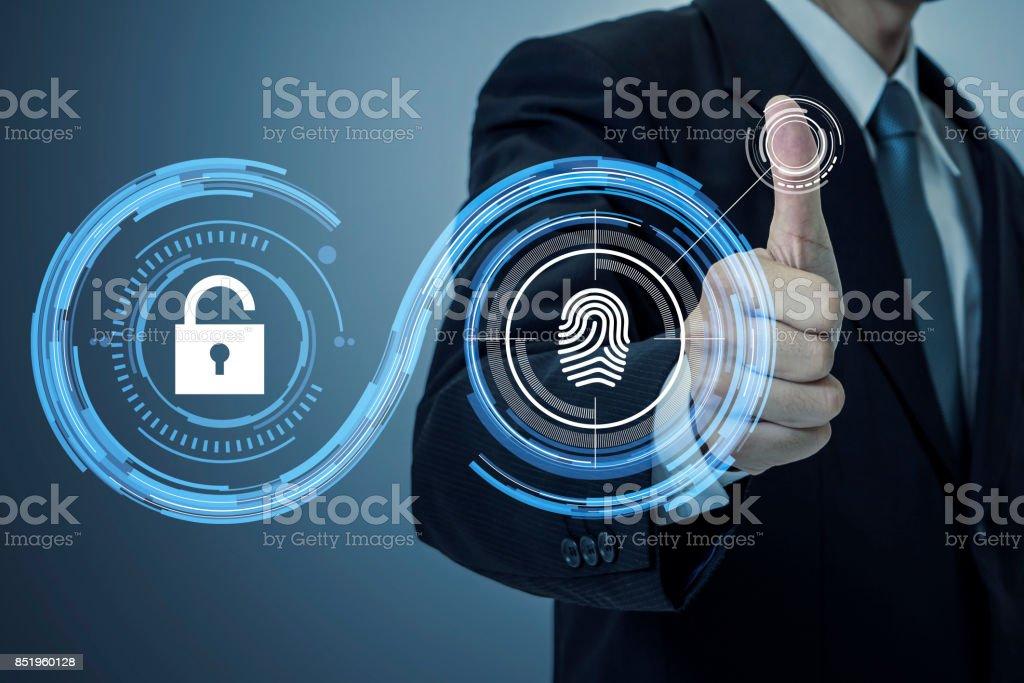 Fingerprint Authentication Biometric Authentication Concept