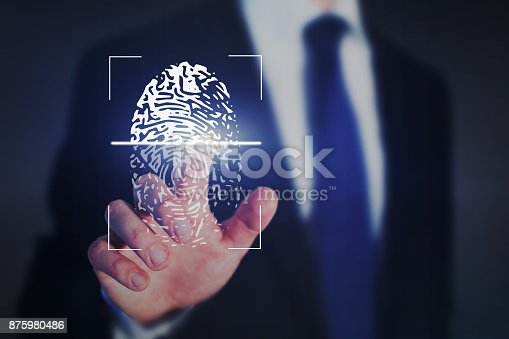 istock fingerprint authentication, internet security concept 875980486