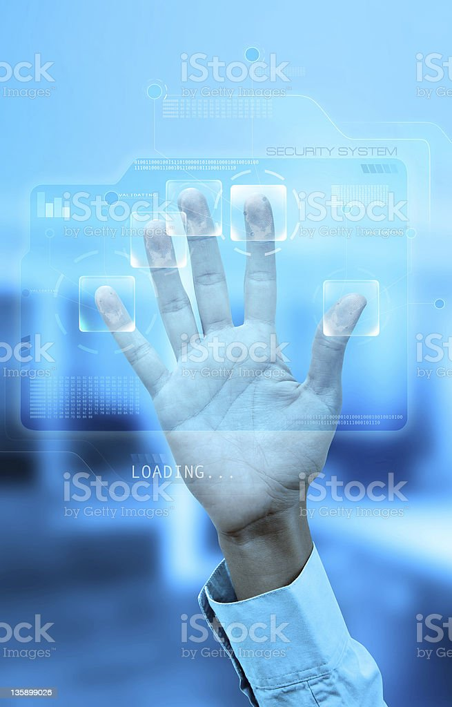Fingerprint authentication stock photo