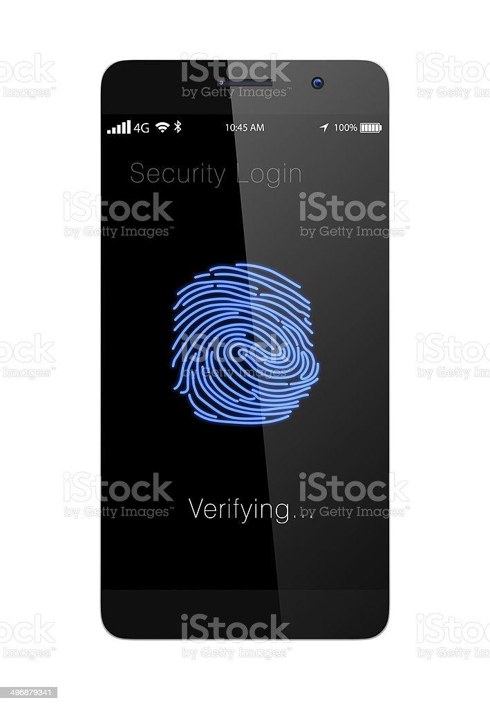 Fingerprint authentication system for smartphone stock photo