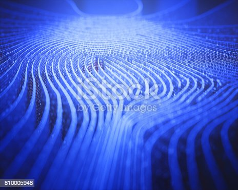 istock Fingerprint Binary Code Labyrinth 810005948