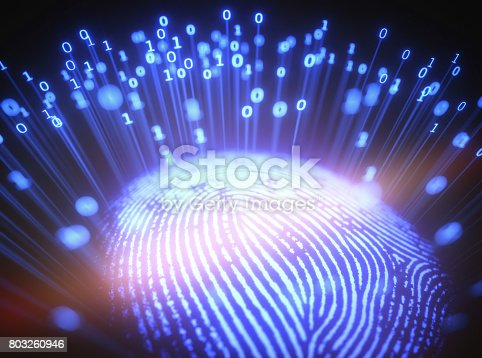 803260946 istock photo Fingerprint Binary Code 803260946