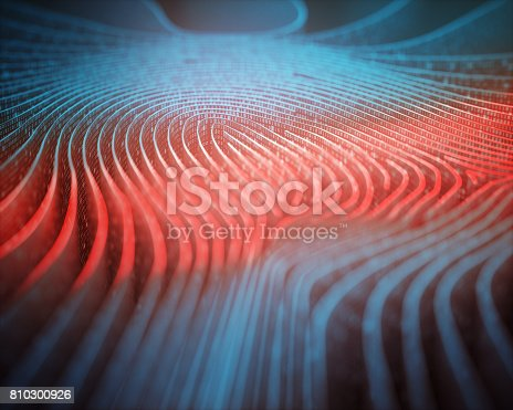 istock Fingerprint Binary Code Scanner 810300926