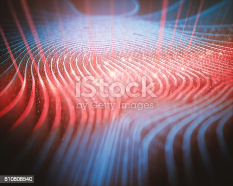 istock Fingerprint Binary Code Scanner 810808540