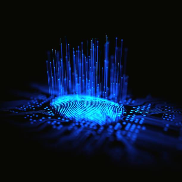 Fingerabdruck Binary Microchip – Foto