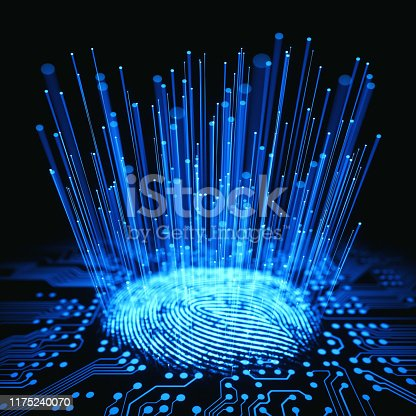 istock Fingerprint Binary Microchip 1175240070