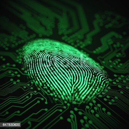 istock Fingerprint Binary Microchip 647830600