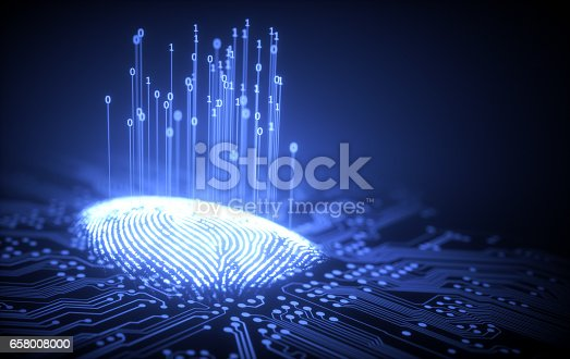 istock Fingerprint Binary Microchip 658008000