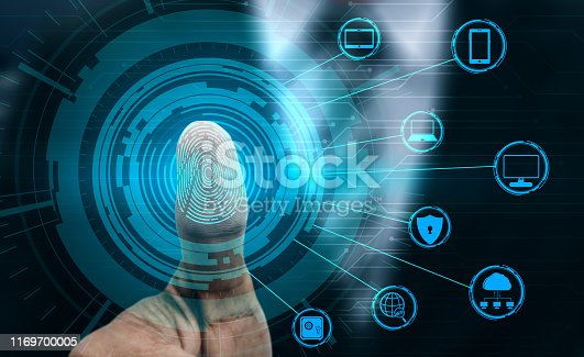 istock Fingerprint Biometric Digital Scan Technology. 1169700005