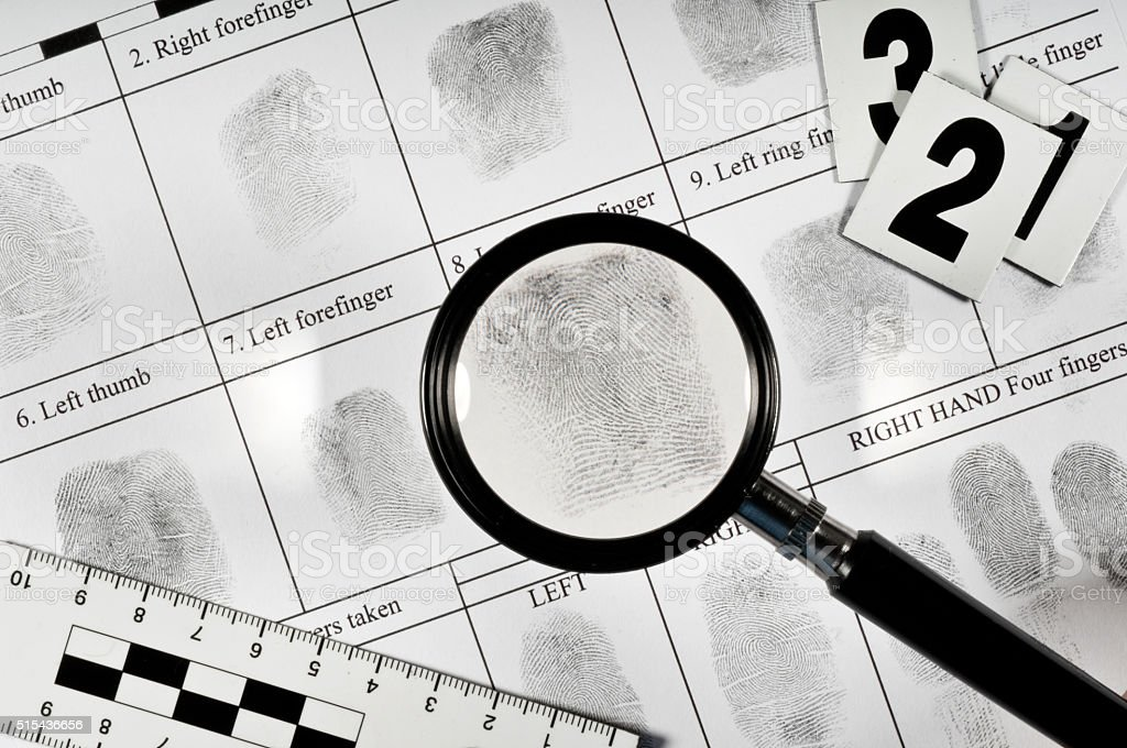 Fingerprint card stock photo