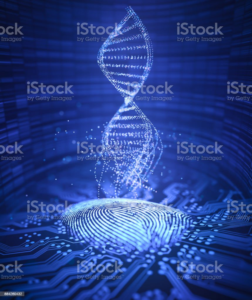 Fingerprint Genetic Code DNA stock photo