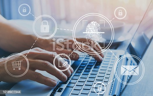 istock fingerprint login, authorisation access concept 1018922344