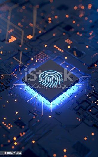 658008000 istock photo Fingerprint login 1145594089