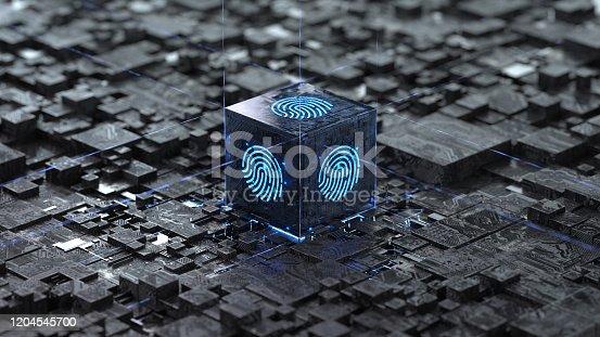 658008000 istock photo Fingerprint login 1204545700