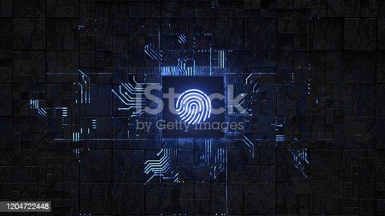 658008000 istock photo Fingerprint login 1204722448