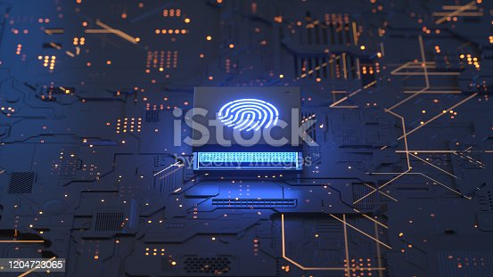 658008000 istock photo Fingerprint login 1204723065