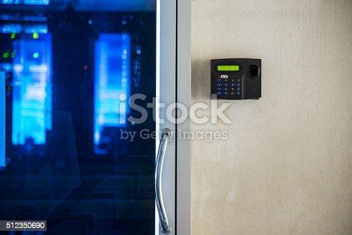 istock Fingerprint machine 512350690