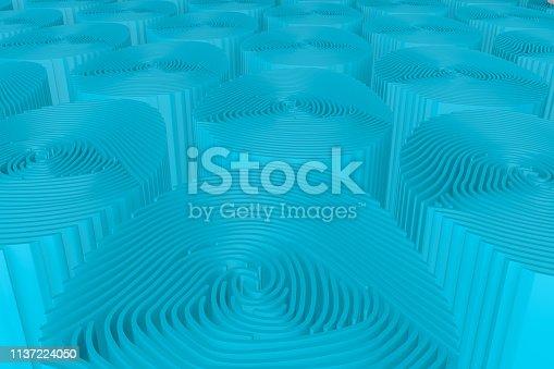 671053272 istock photo 3D Fingerprint Maze 1137224050