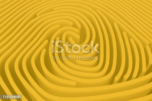 671053272 istock photo 3D Fingerprint Maze 1137226037
