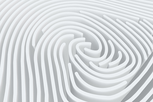 istock 3D Fingerprint Maze 1137226114