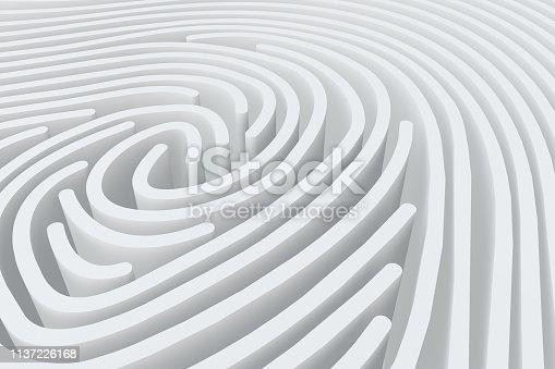 671053272 istock photo 3D Fingerprint Maze 1137226168