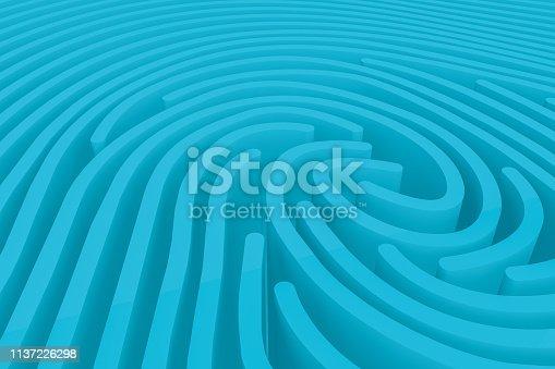 671053272 istock photo 3D Fingerprint Maze 1137226298