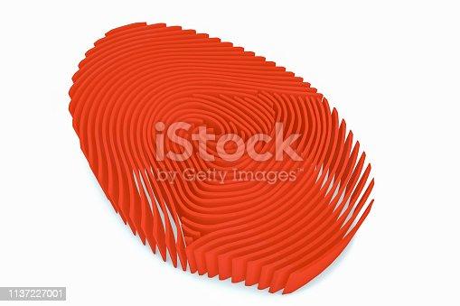 671053272 istock photo 3D Fingerprint Maze 1137227001