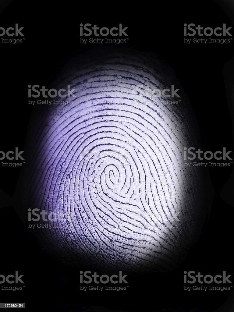 Fingerprint on Black stock photo