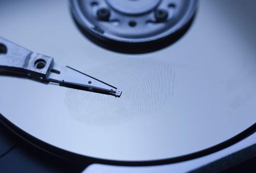 Fingerprint on harddisk