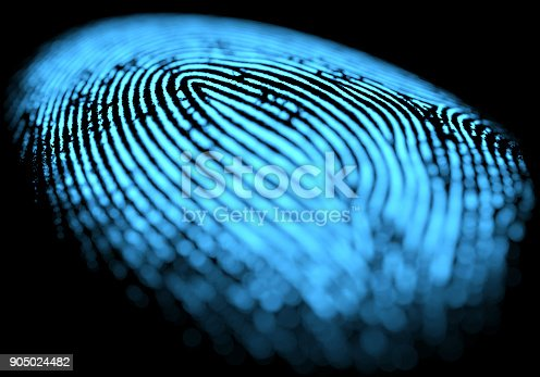 647830814 istock photo Fingerprint Over Black 905024482