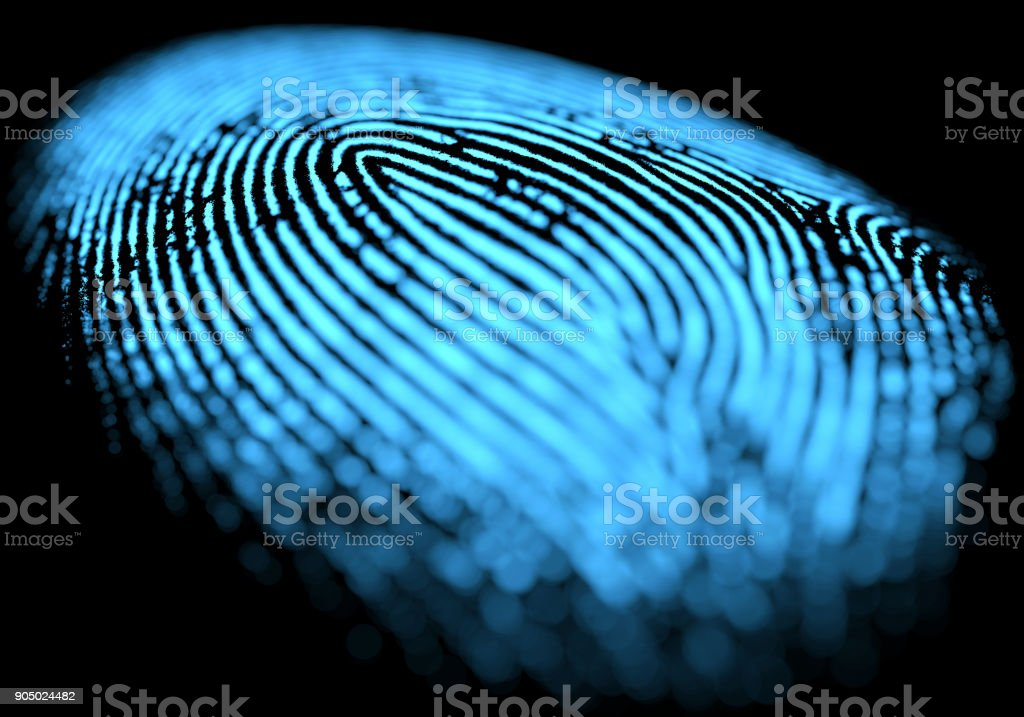 Fingerprint Over Black stock photo