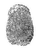 Fingerprint in Black and White