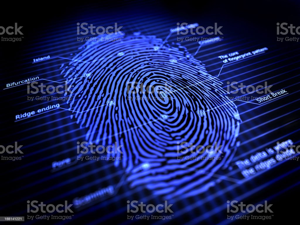fingerprint stock photo