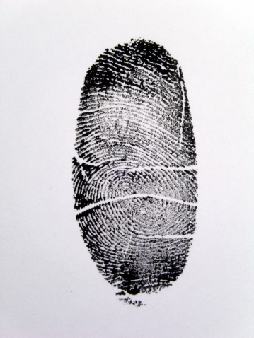 closeup of a thumb print.