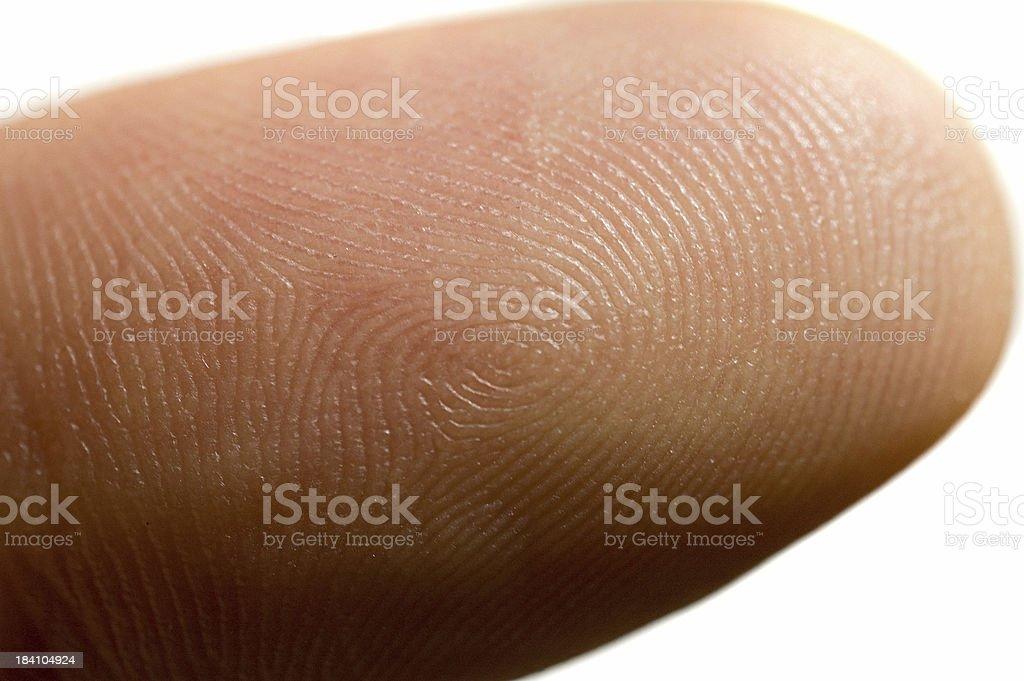 Fingerprint royalty-free stock photo