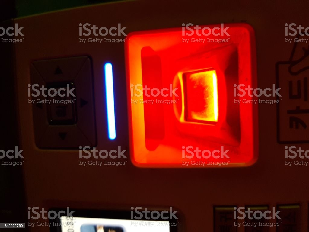 Fingerprint reader stock photo