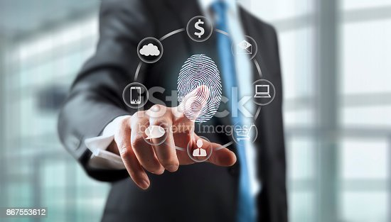 istock Fingerprint Scan Security System 867553612