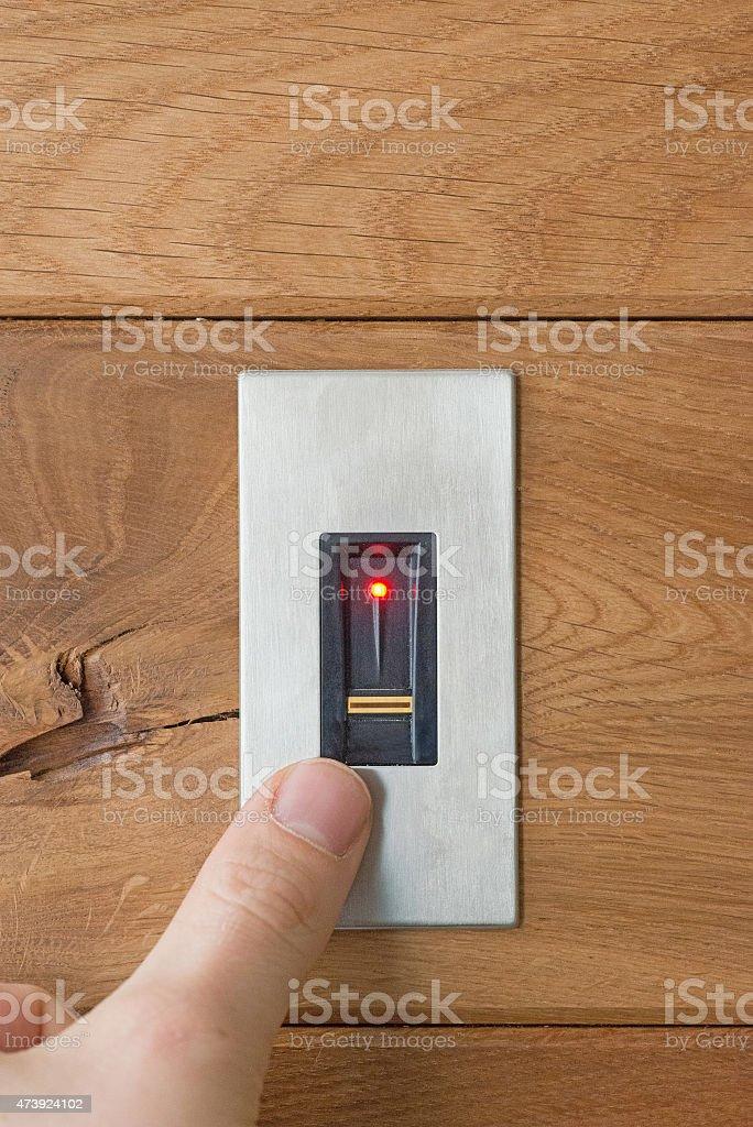 fingerprint scanner stock photo