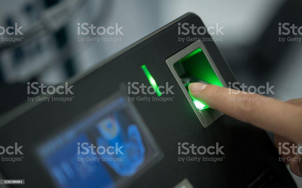Leitor de impressão digital - foto de acervo