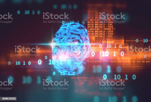 Fingerprint scanning on blue technology illustration picture id958626050?b=1&k=6&m=958626050&s=612x612&h=8pxraundeuq9vyuxc 126g1hoi48vkf6zq5cv8bvqtc=