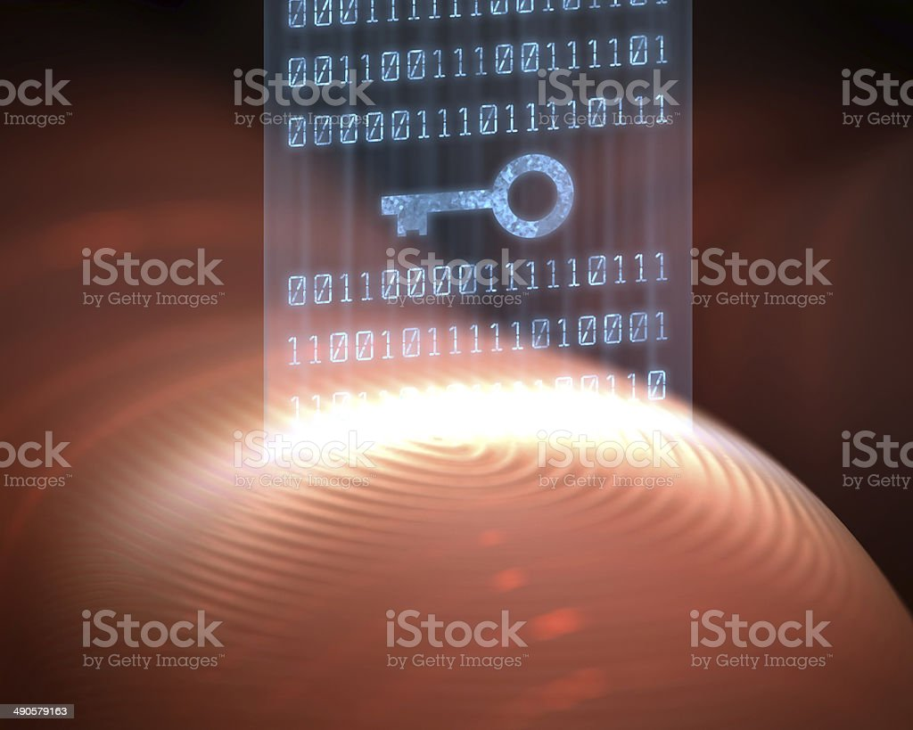 Fingerprint Security Digital stock photo
