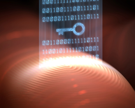 Fingerprint Security Digital Stock Photo - Download Image Now